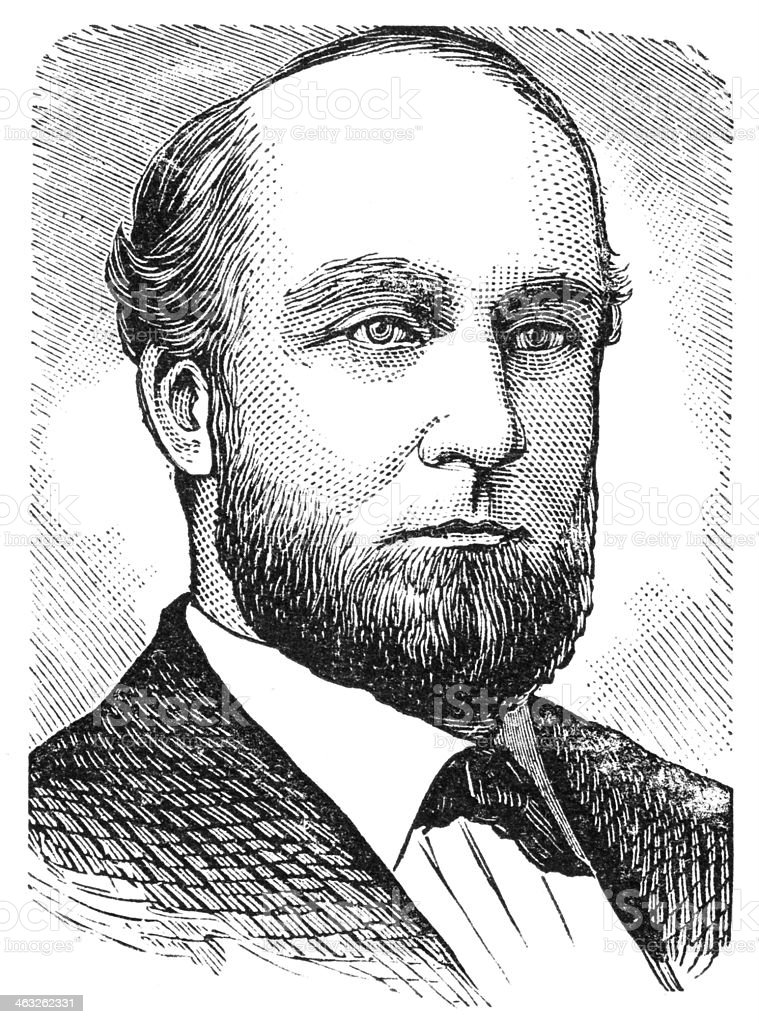 William Chapman Ralston royalty-free stock vector art