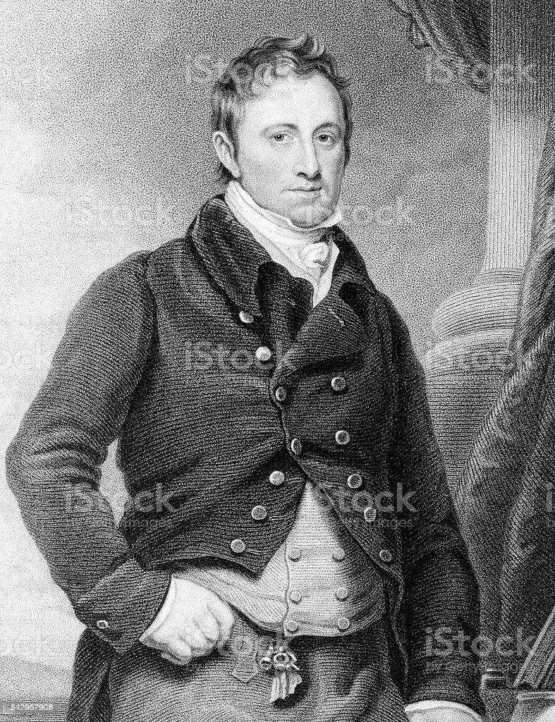 William Charles Keppel, Earl of Albemarle vector art illustration