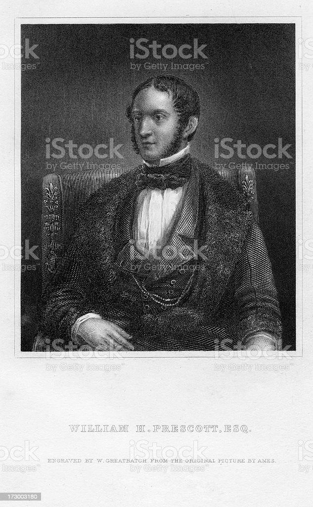 William H. Prescott royalty-free stock vector art