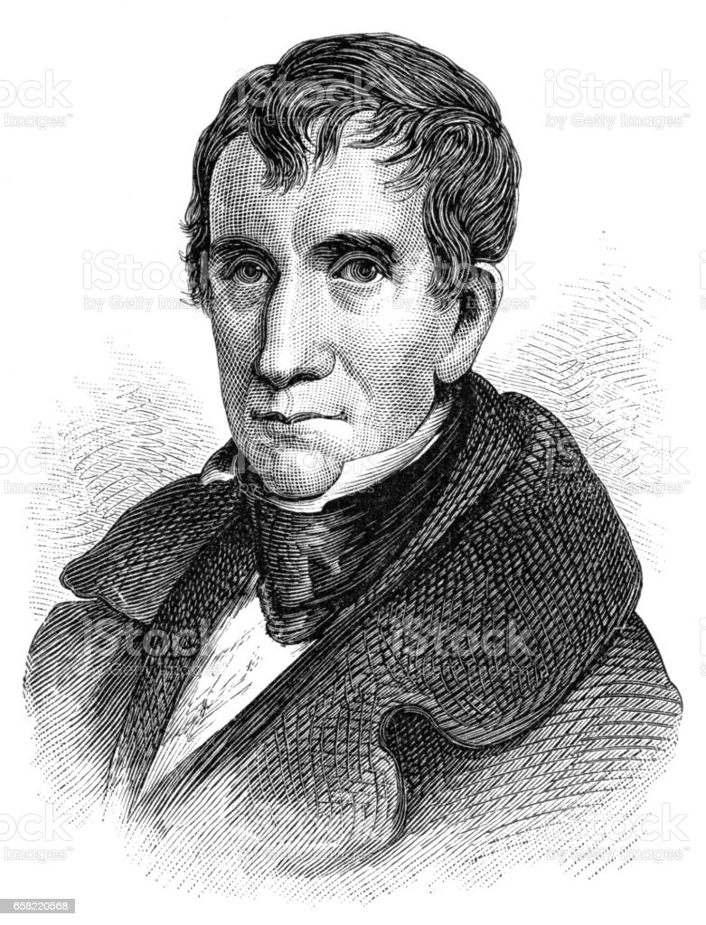 William Henry Harrison vector art illustration