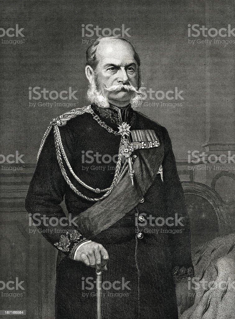 William I Of Germany royalty-free stock vector art