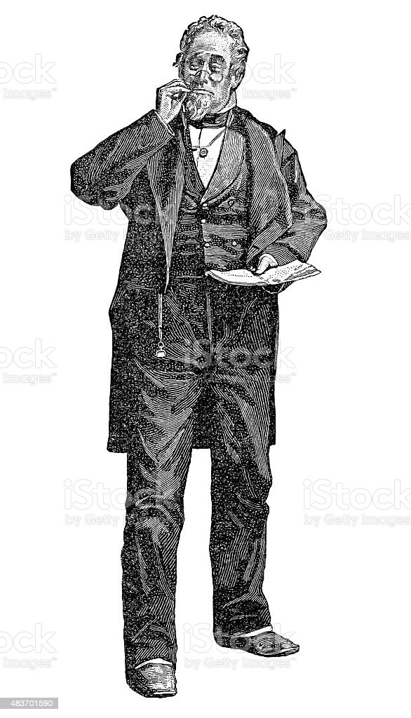 William J. Florence vector art illustration