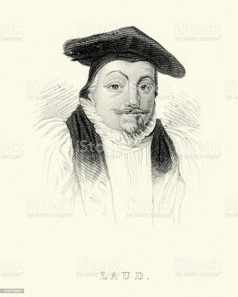 William Laud, Archbishop of Canterbury vector art illustration