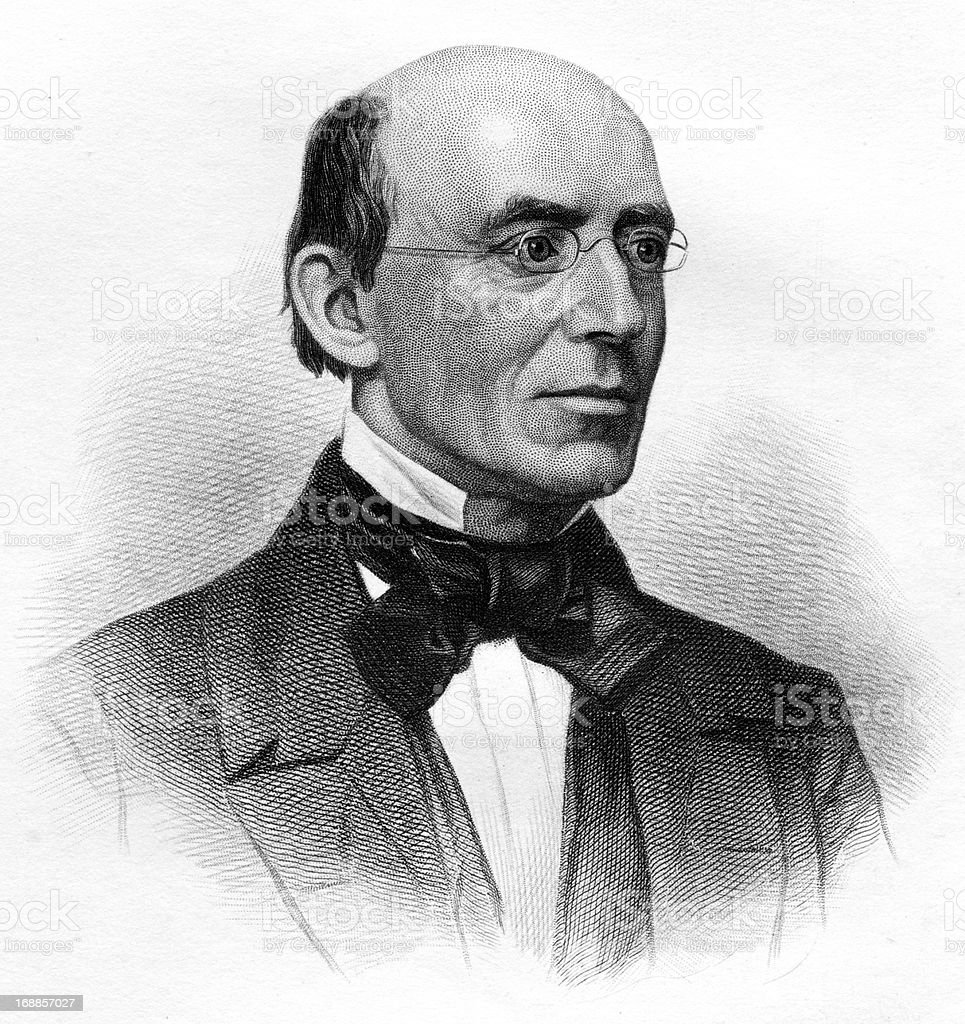 William Lloyd Garrison royalty-free stock vector art