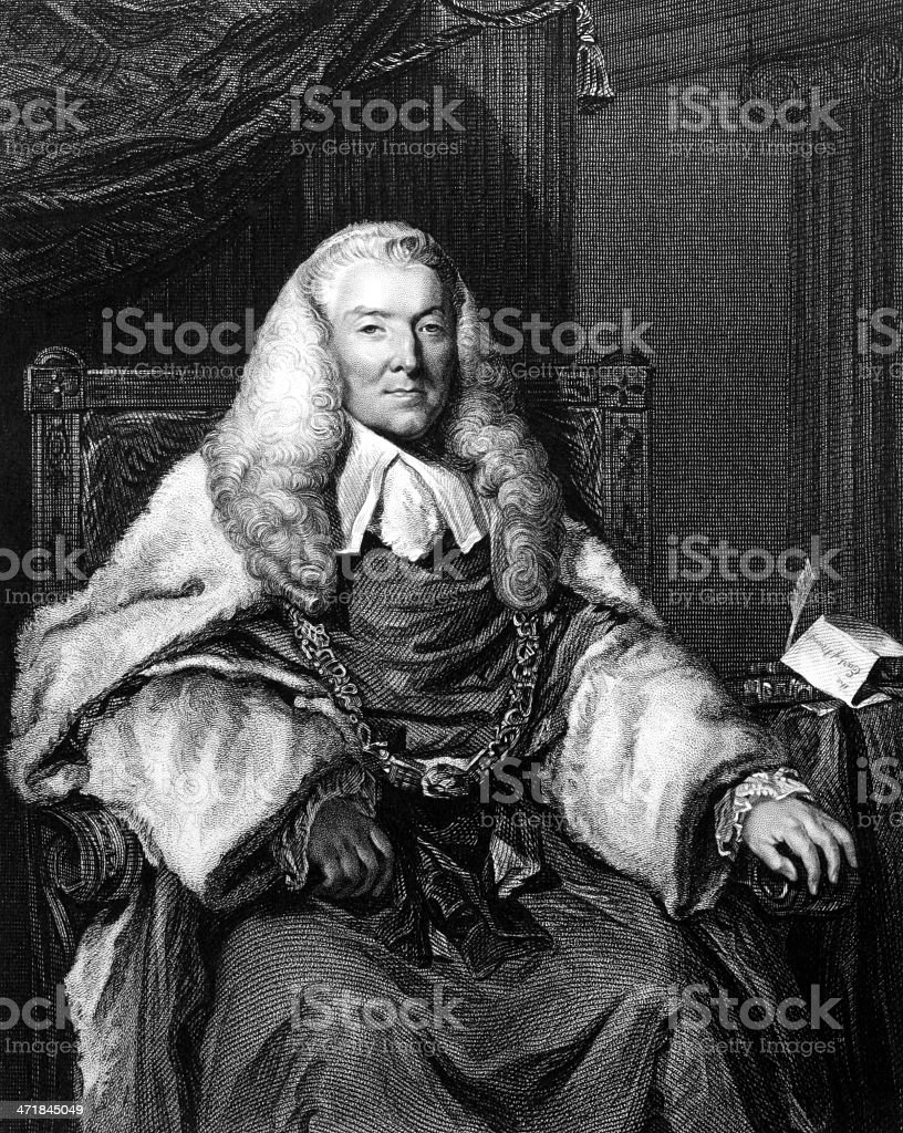William Murray, 1st Earl of Mansfield royalty-free stock vector art