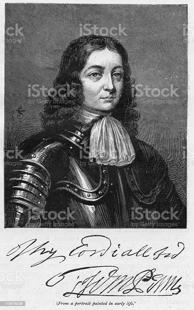 William Penn royalty-free stock vector art