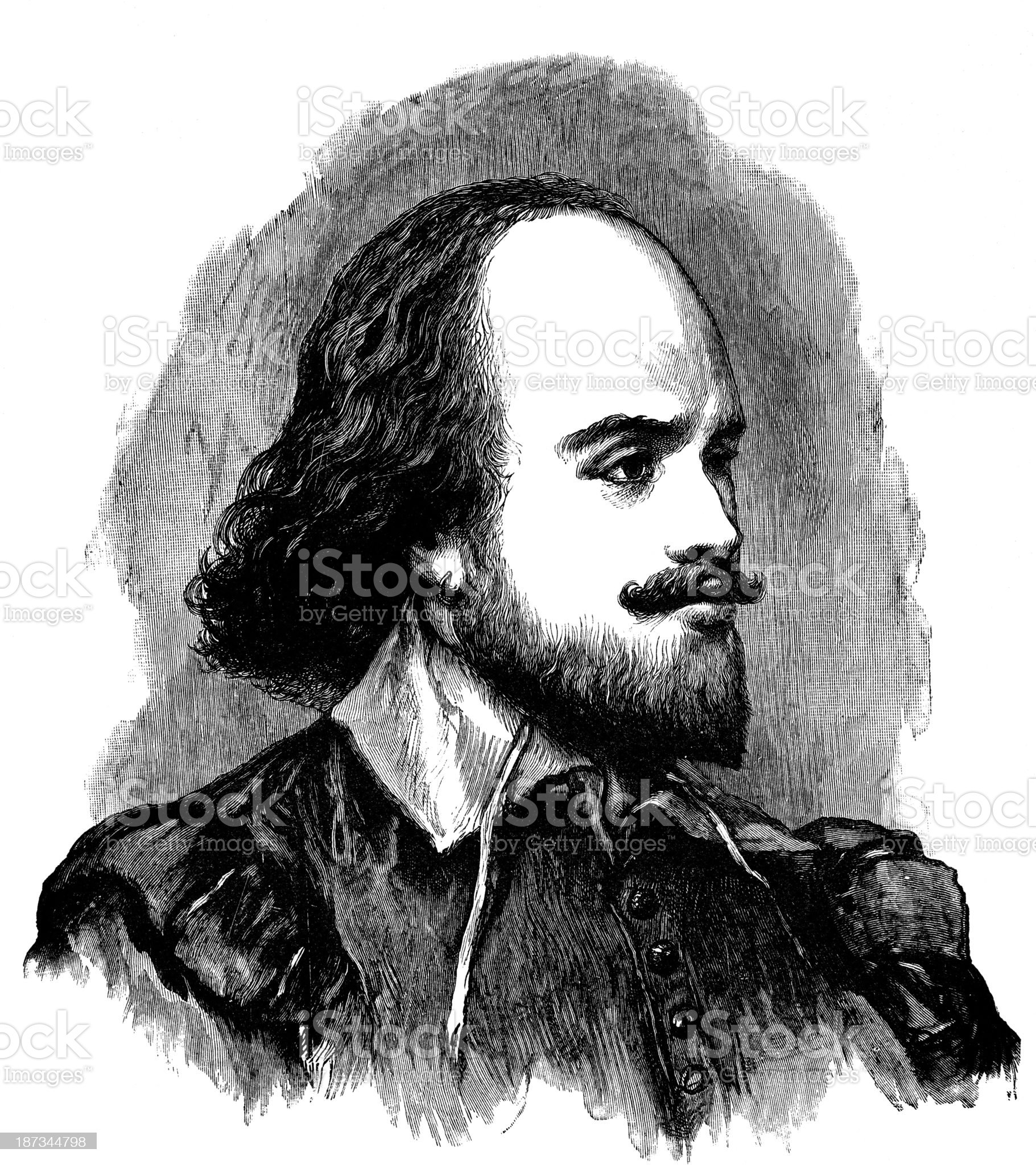 William Shakespeare royalty-free stock vector art