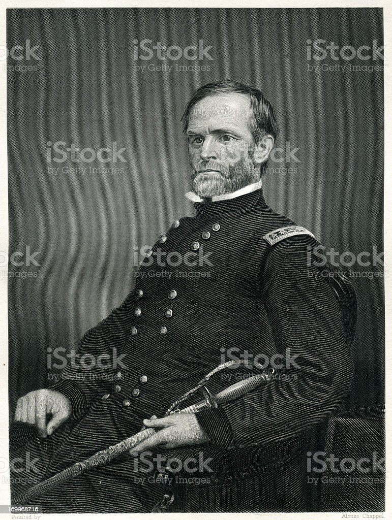 William Tecumseh Sherman royalty-free stock vector art