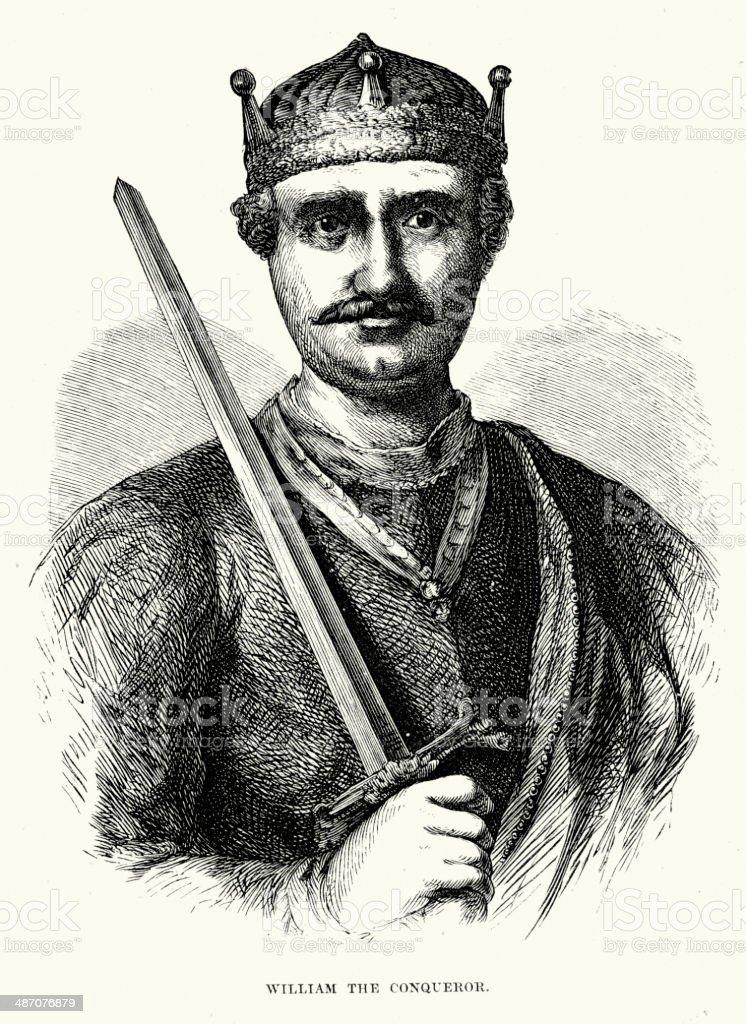 William the Conqueror royalty-free stock vector art