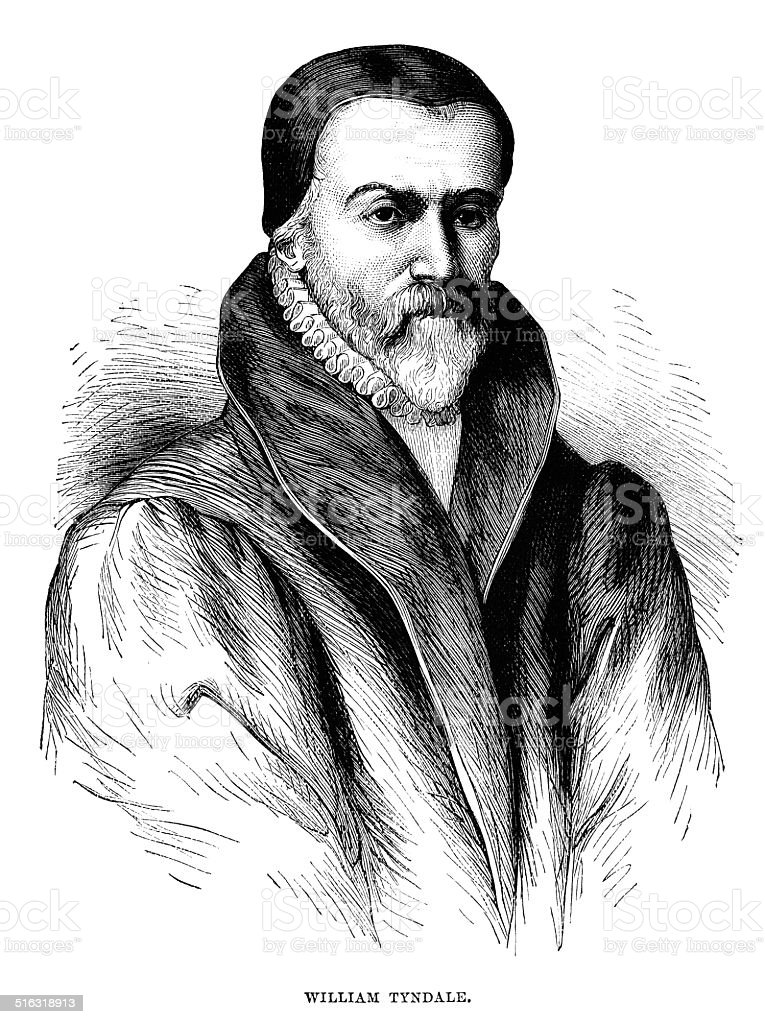 William Tyndale vector art illustration