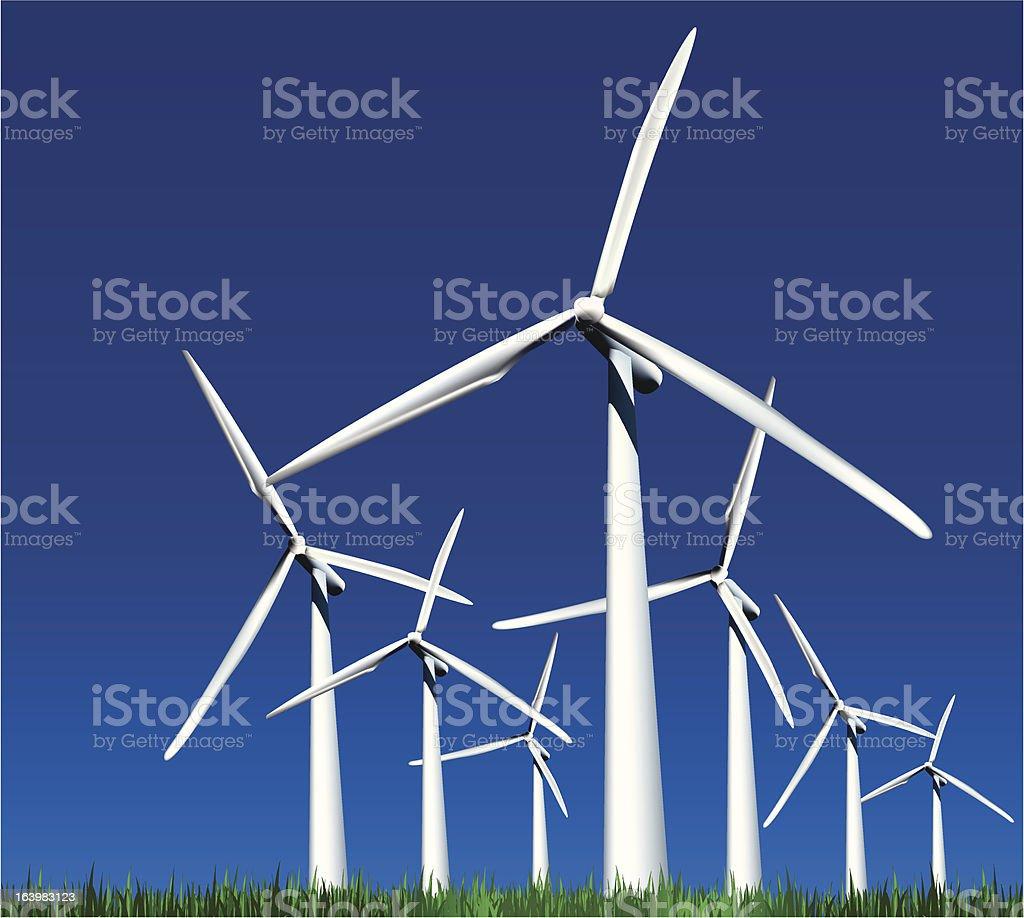 Wind Generators. Vector illustration royalty-free stock vector art