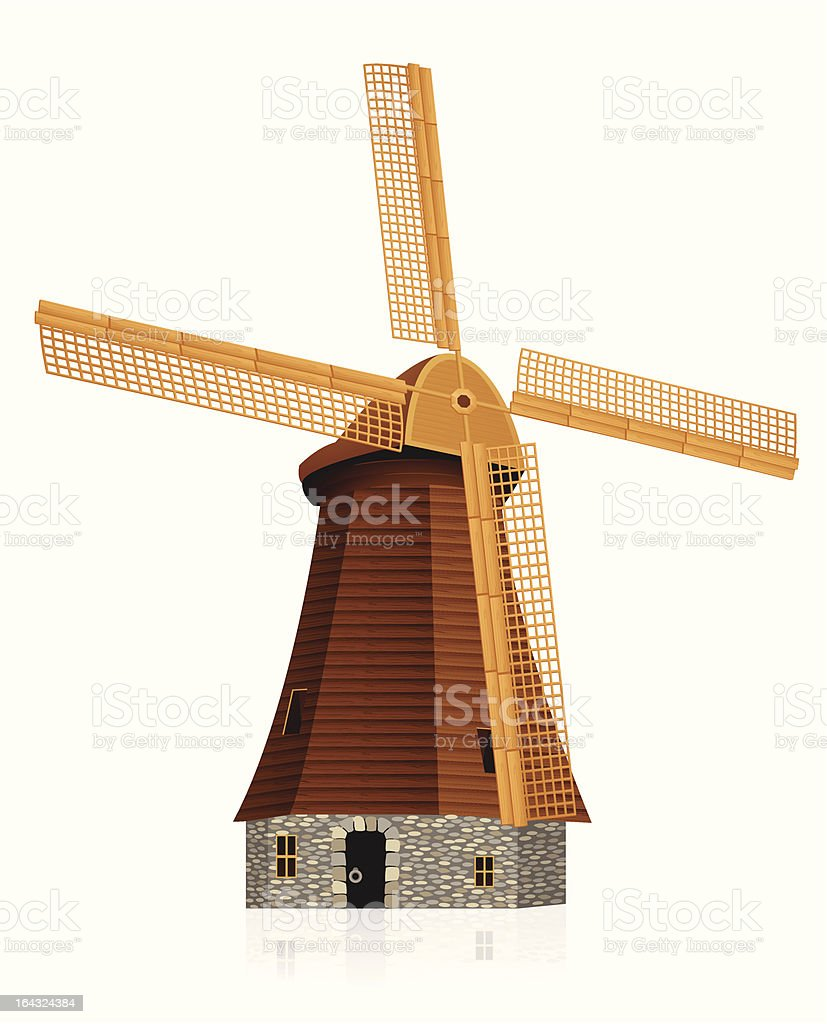 Wind mill royalty-free stock vector art