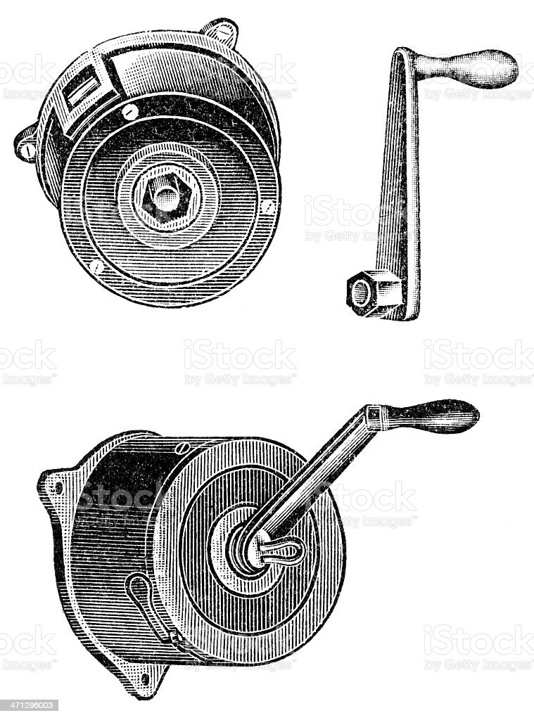 windlass vector art illustration