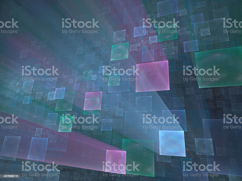 window in cyberspace vector art illustration