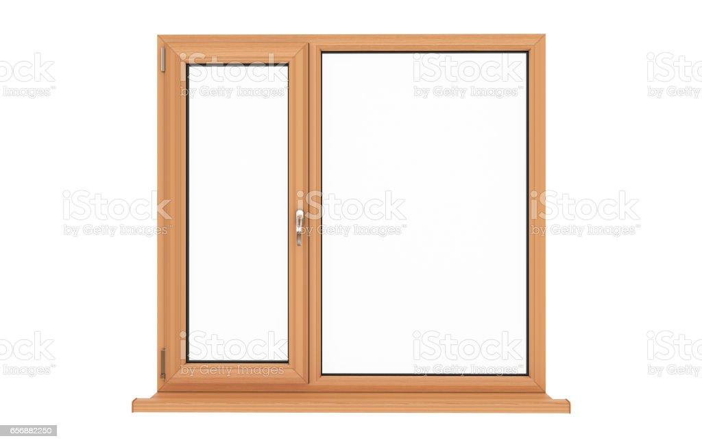 Window. Isolated window. Wooden window. vector art illustration