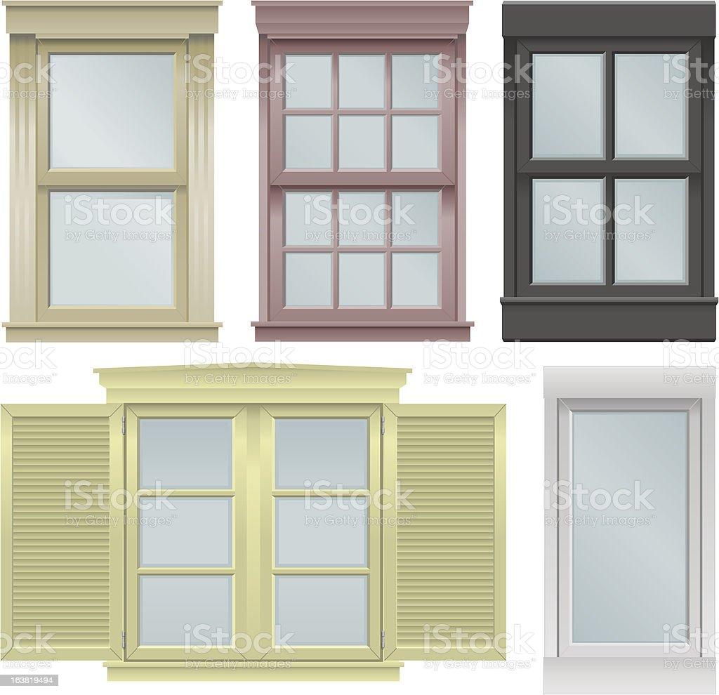 Window vector illustrations royalty-free stock vector art