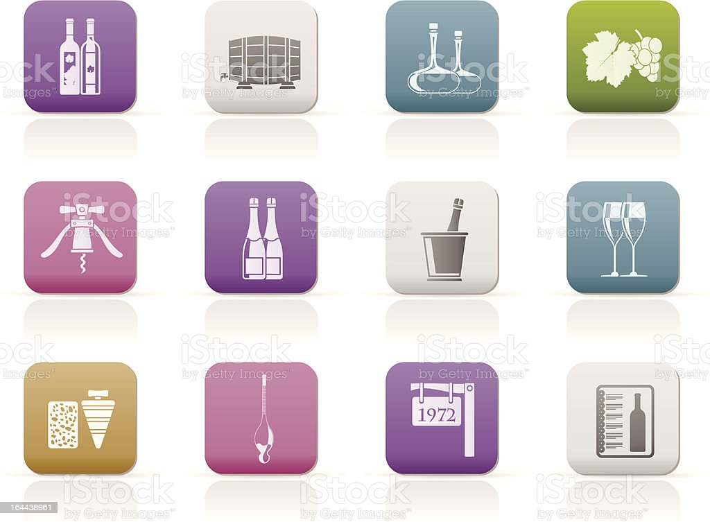 Wine and drink Icons royalty-free stock vector art