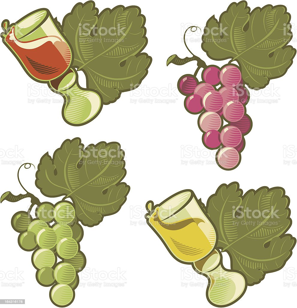 Wine and grape royalty-free stock vector art