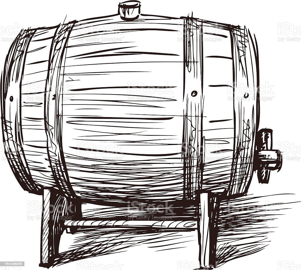 wine barrel royalty-free stock vector art
