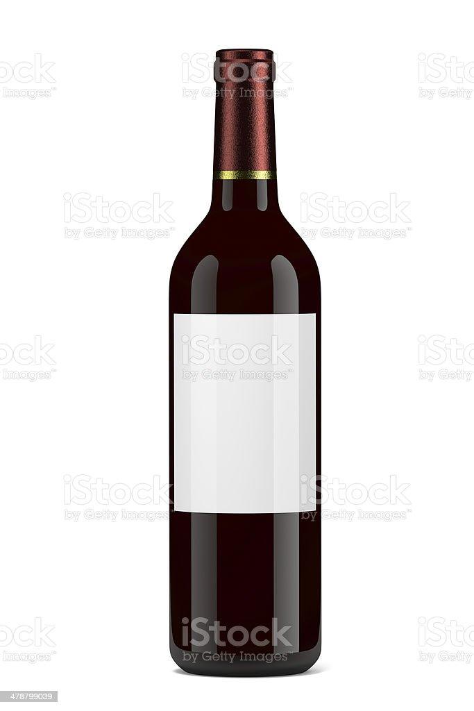 Wine Bottle vector art illustration
