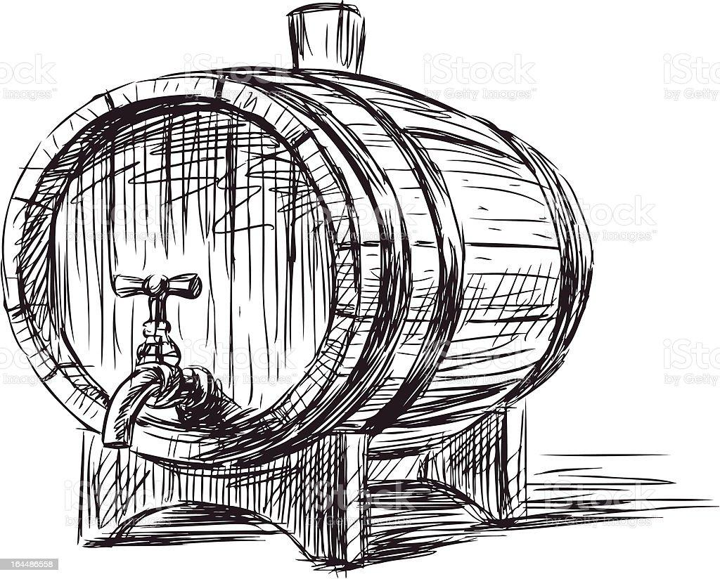 wine cask royalty-free stock vector art