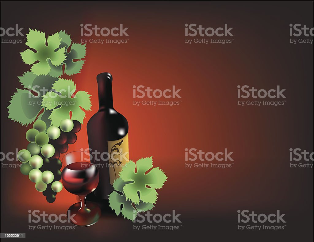 Wine composition royalty-free stock vector art