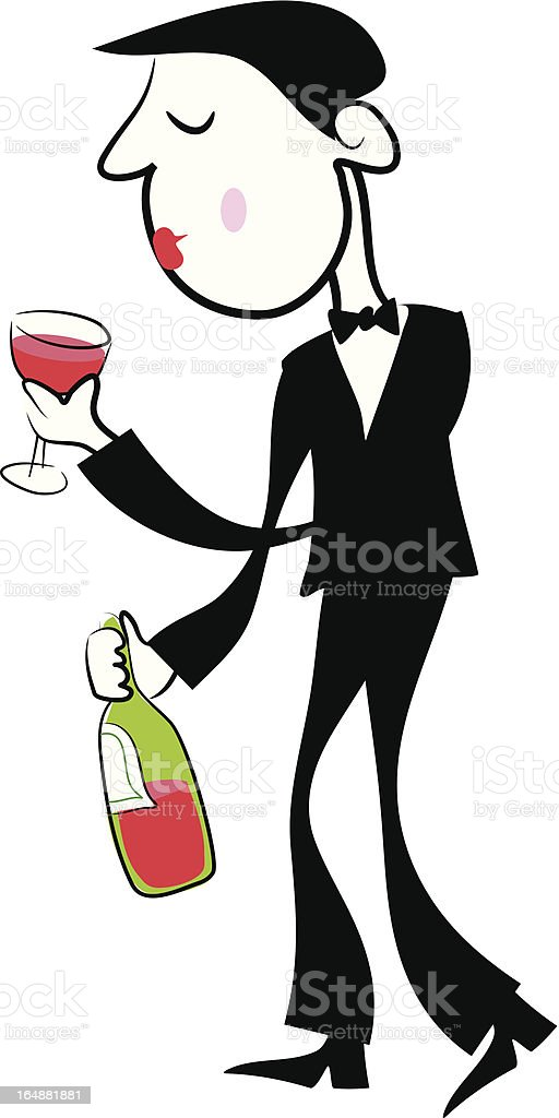 Wine Drinker royalty-free stock vector art