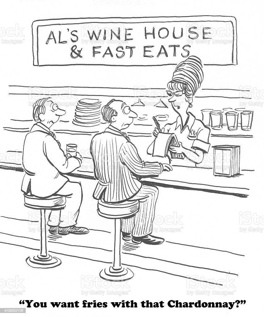 Wine House vector art illustration
