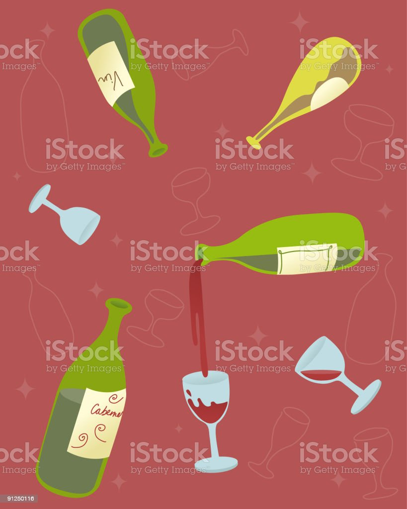 Wine! royalty-free stock vector art