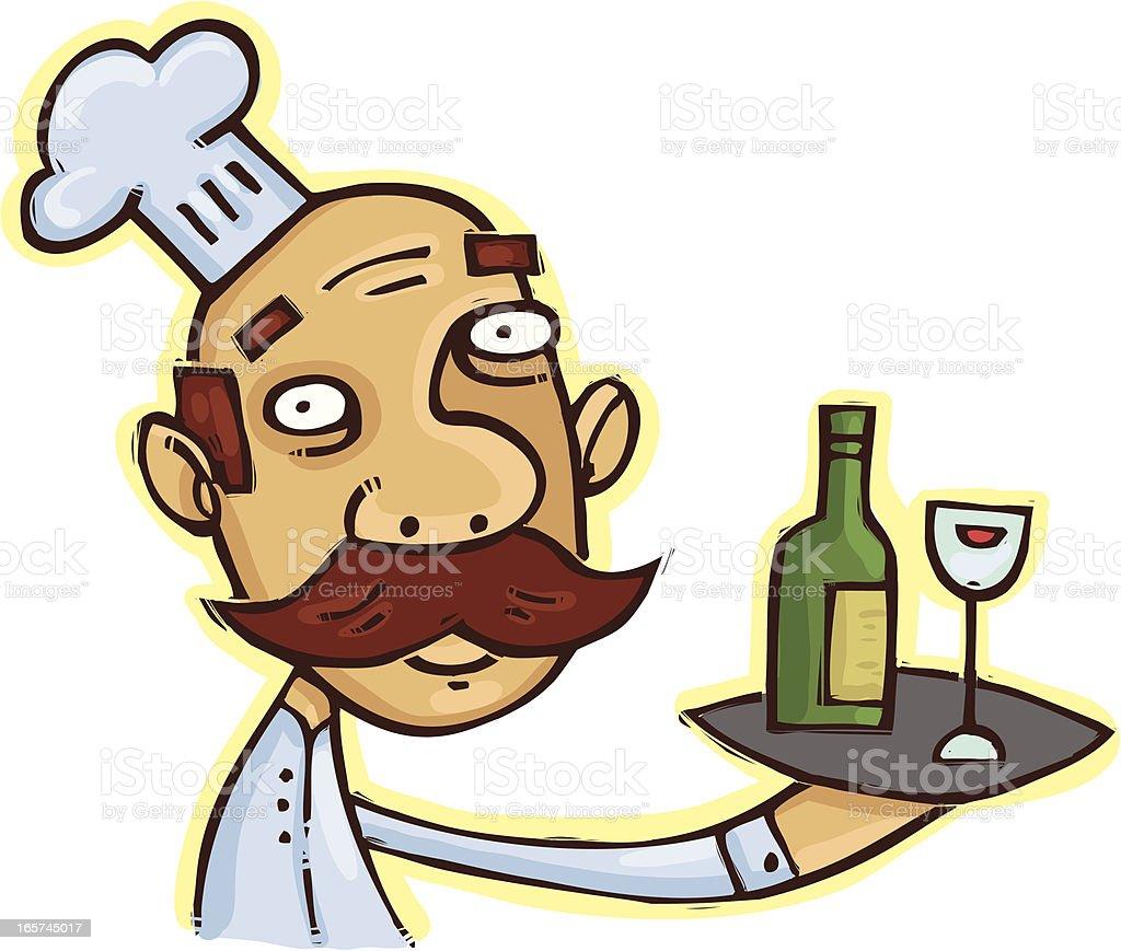 Wine sample anyone? vector art illustration