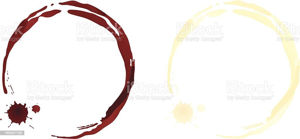 Wine Stains vector art illustration