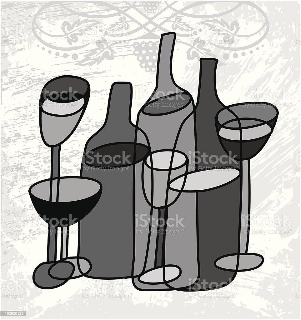wine still life royalty-free stock vector art