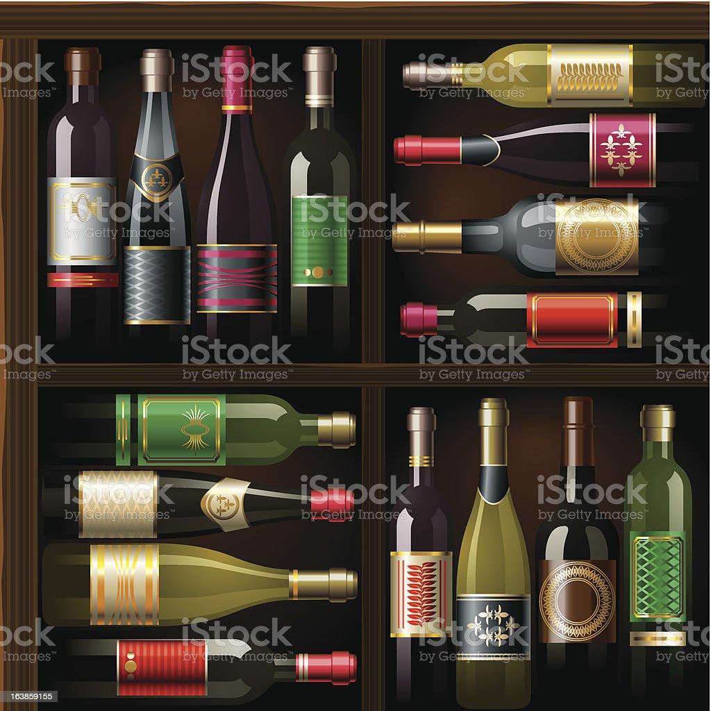 Wine_pattern royalty-free stock vector art
