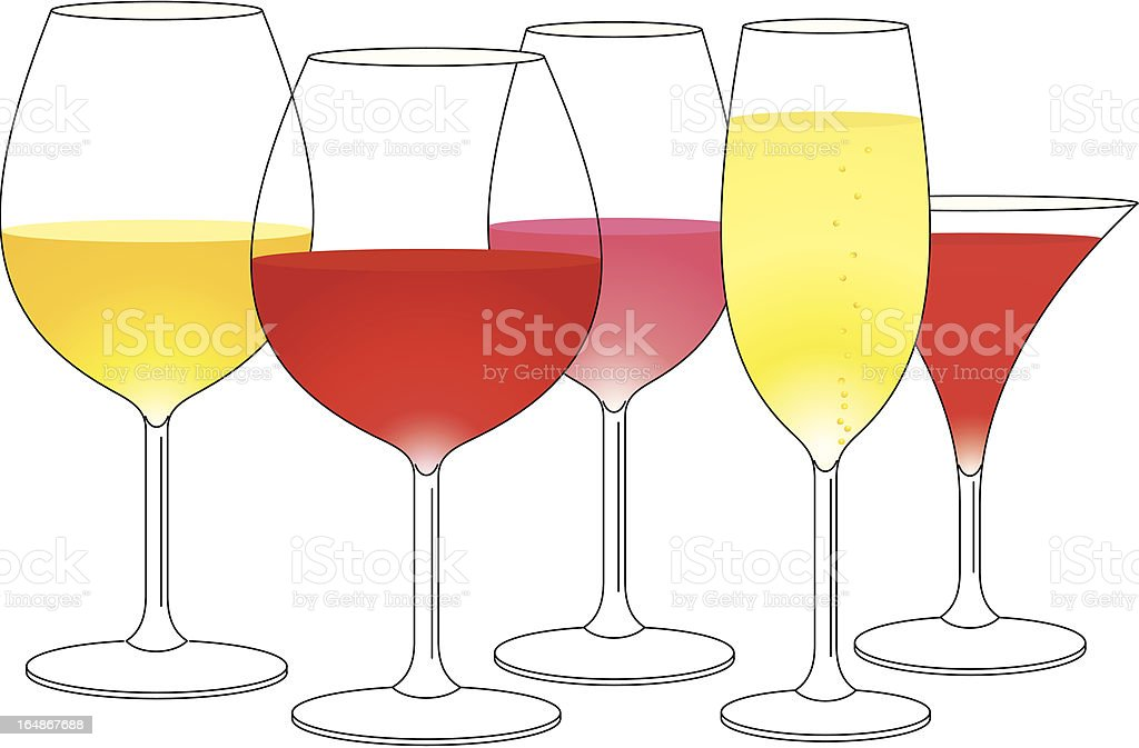 Wineglases royalty-free stock vector art
