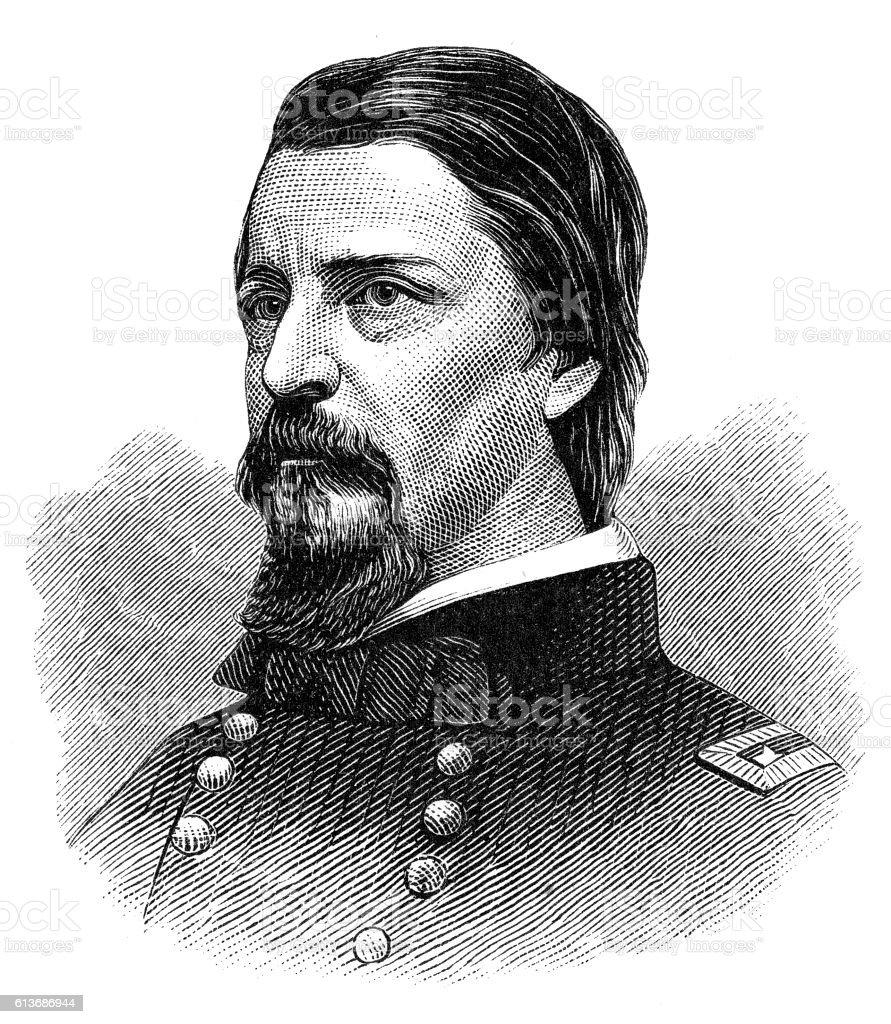 Winfield Hancock vector art illustration