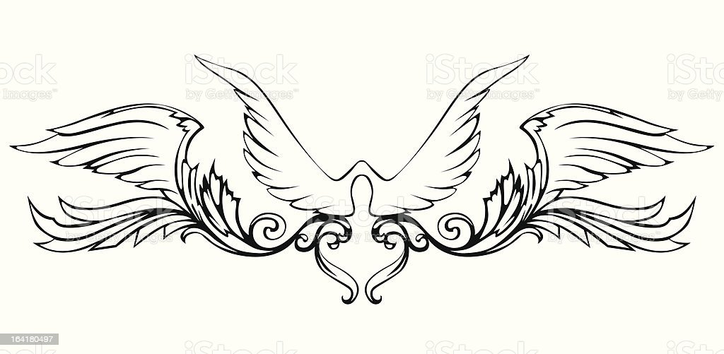Wings royalty-free stock vector art