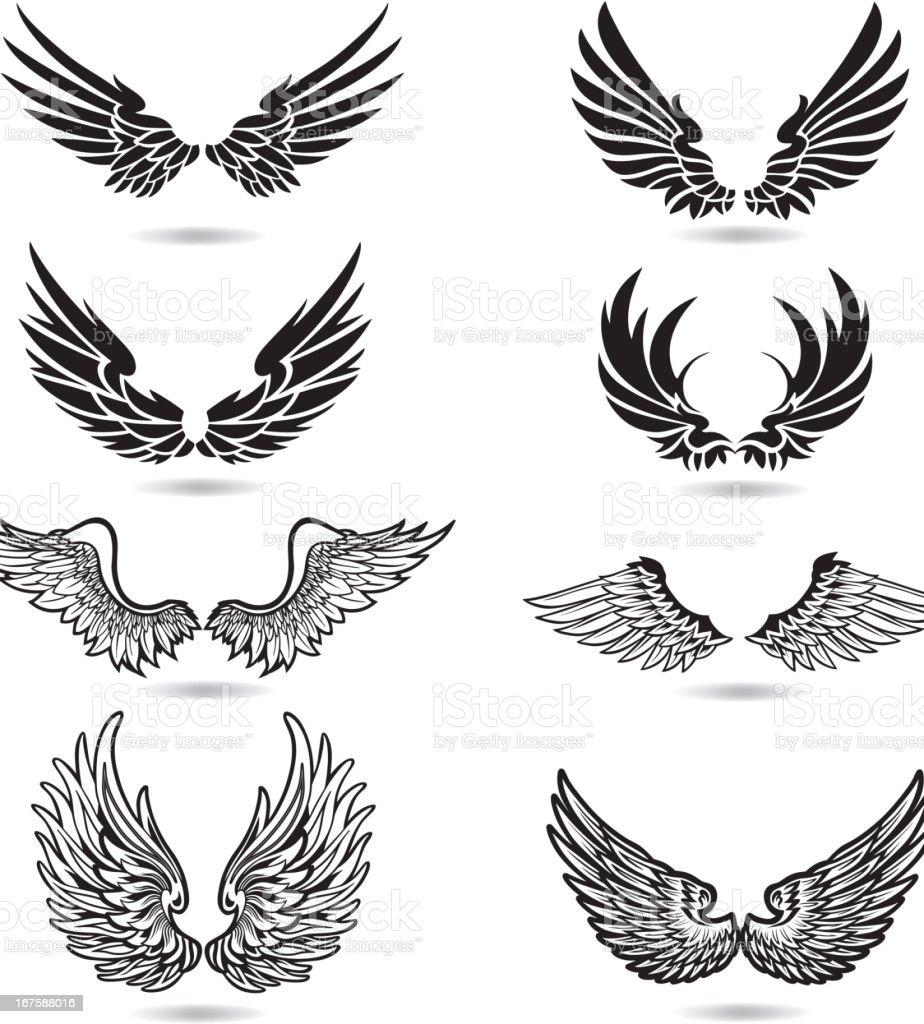 Wings Illustration royalty-free stock vector art