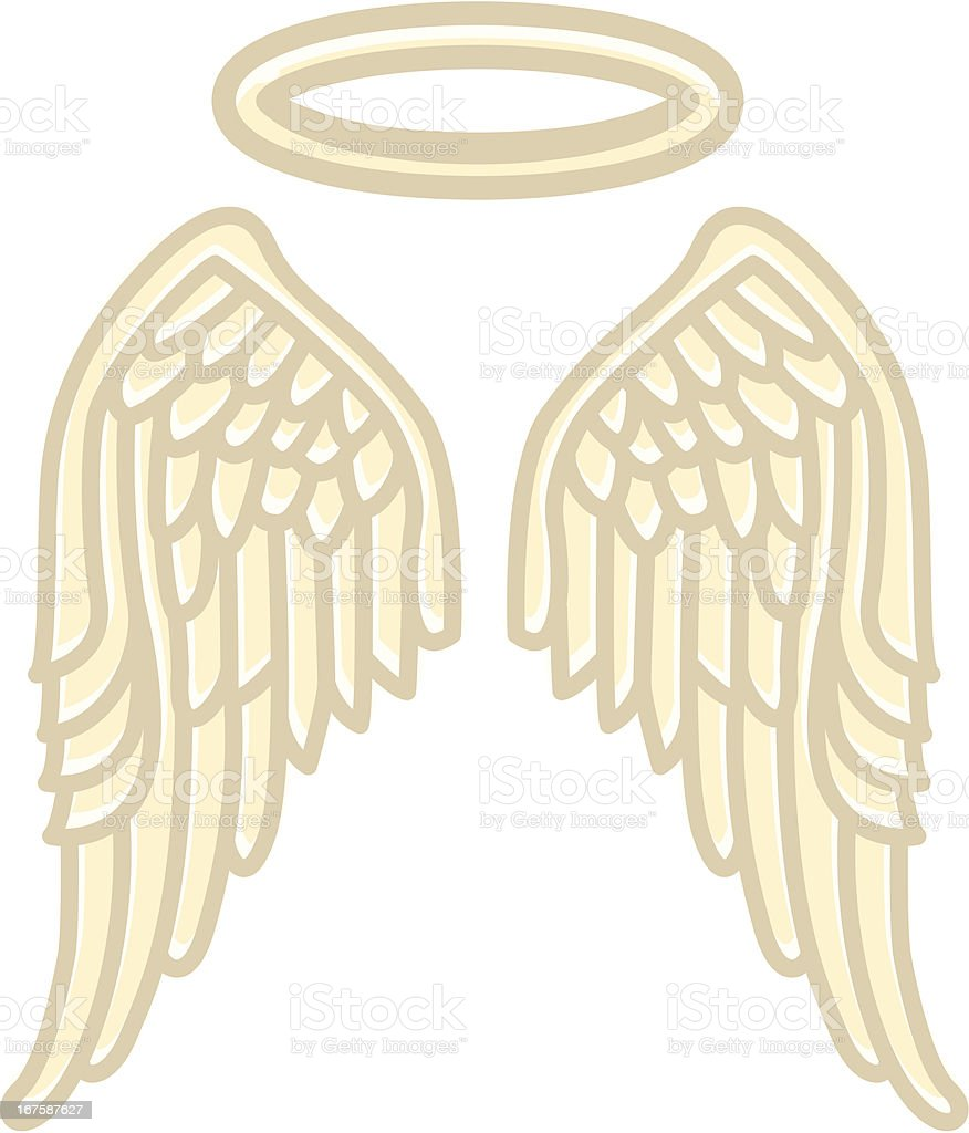 Wings of an Angel vector art illustration