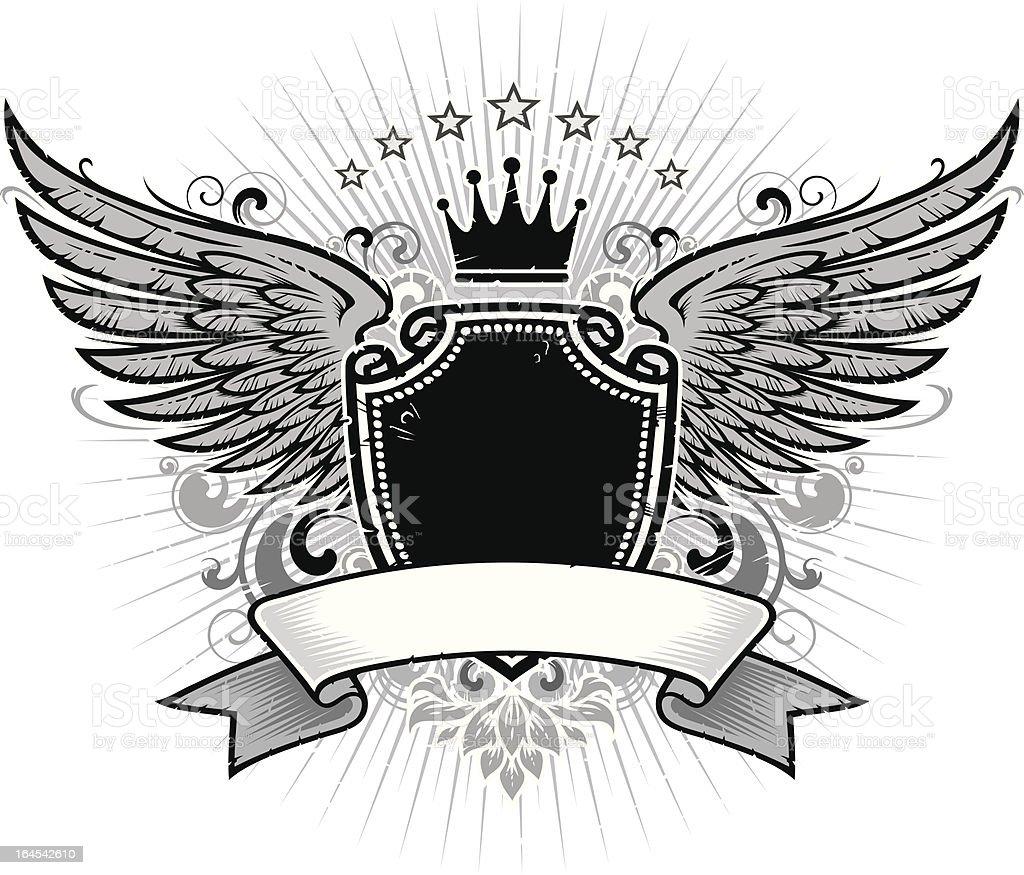 wings shield royalty-free stock vector art