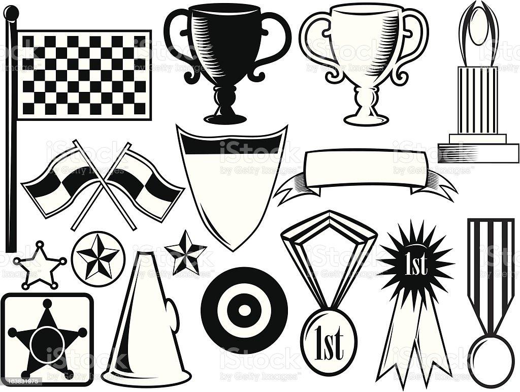 winner awards package royalty-free stock vector art