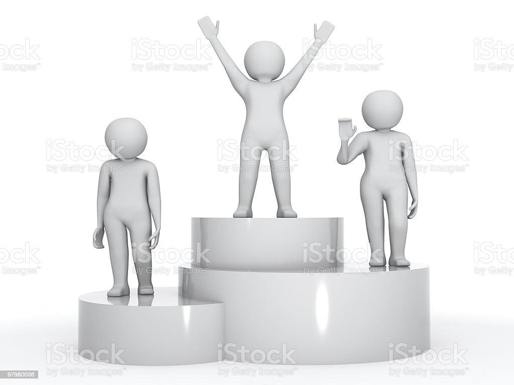winners royalty-free stock vector art