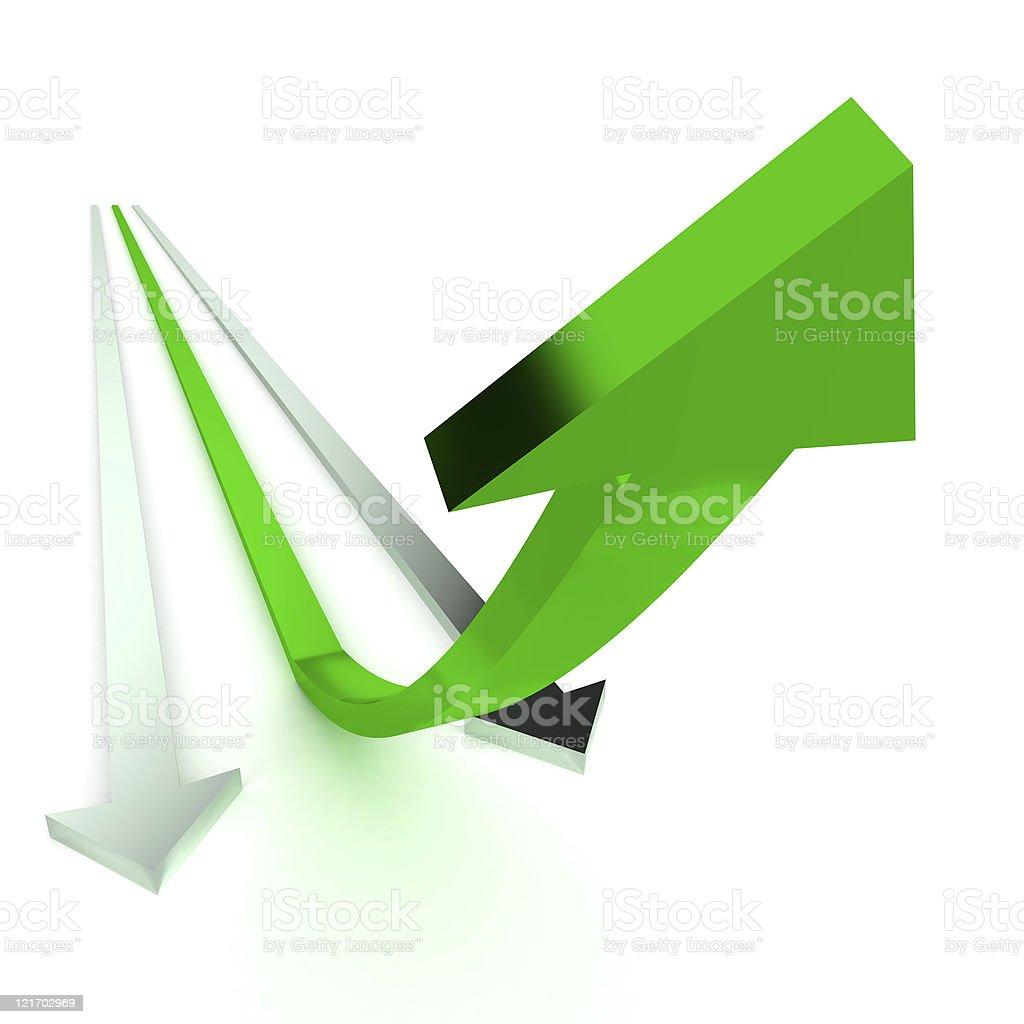 Winning Arrows royalty-free stock vector art