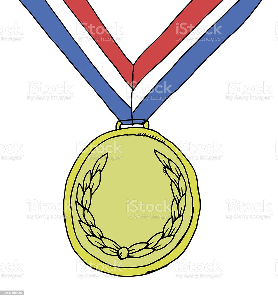 Winning medal royalty-free stock vector art