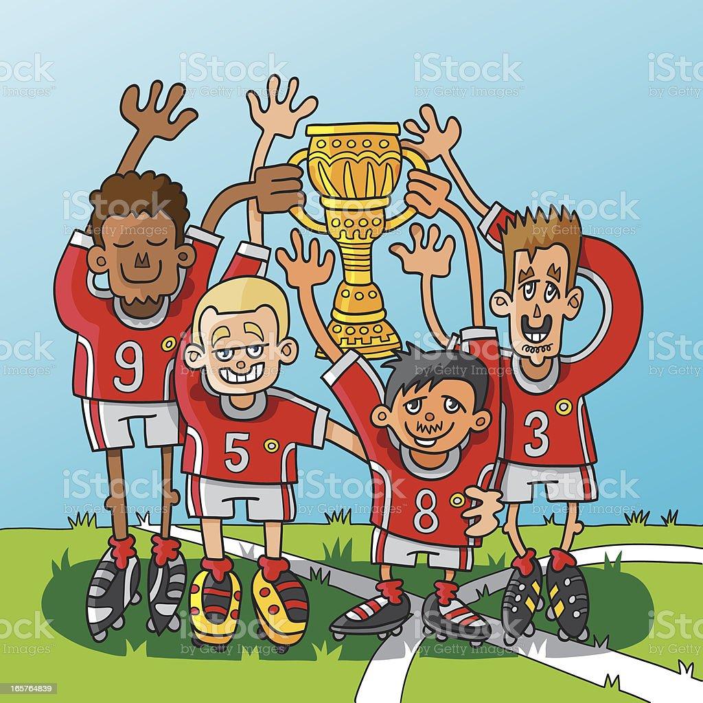 Winning Sports Team Trophy royalty-free stock vector art