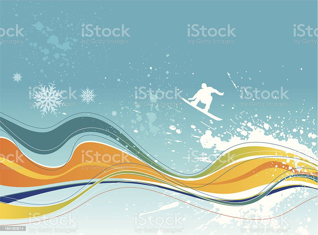 Winter abstract background royalty-free stock vector art