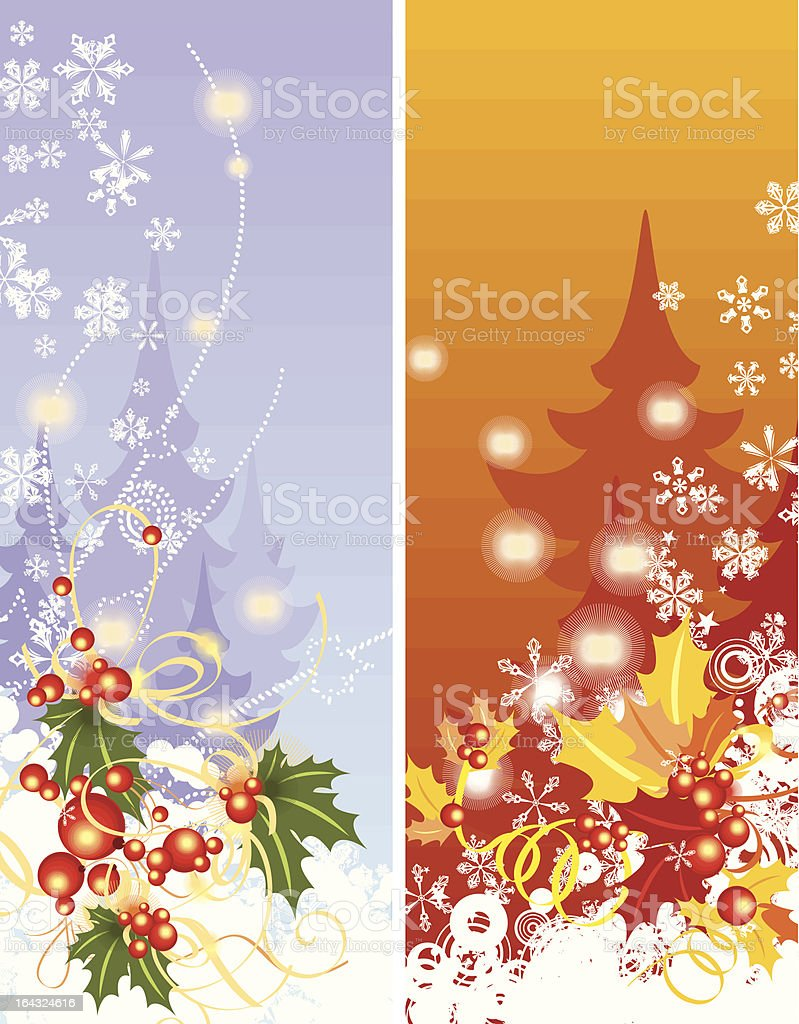 Winter Backgrounds royalty-free stock vector art