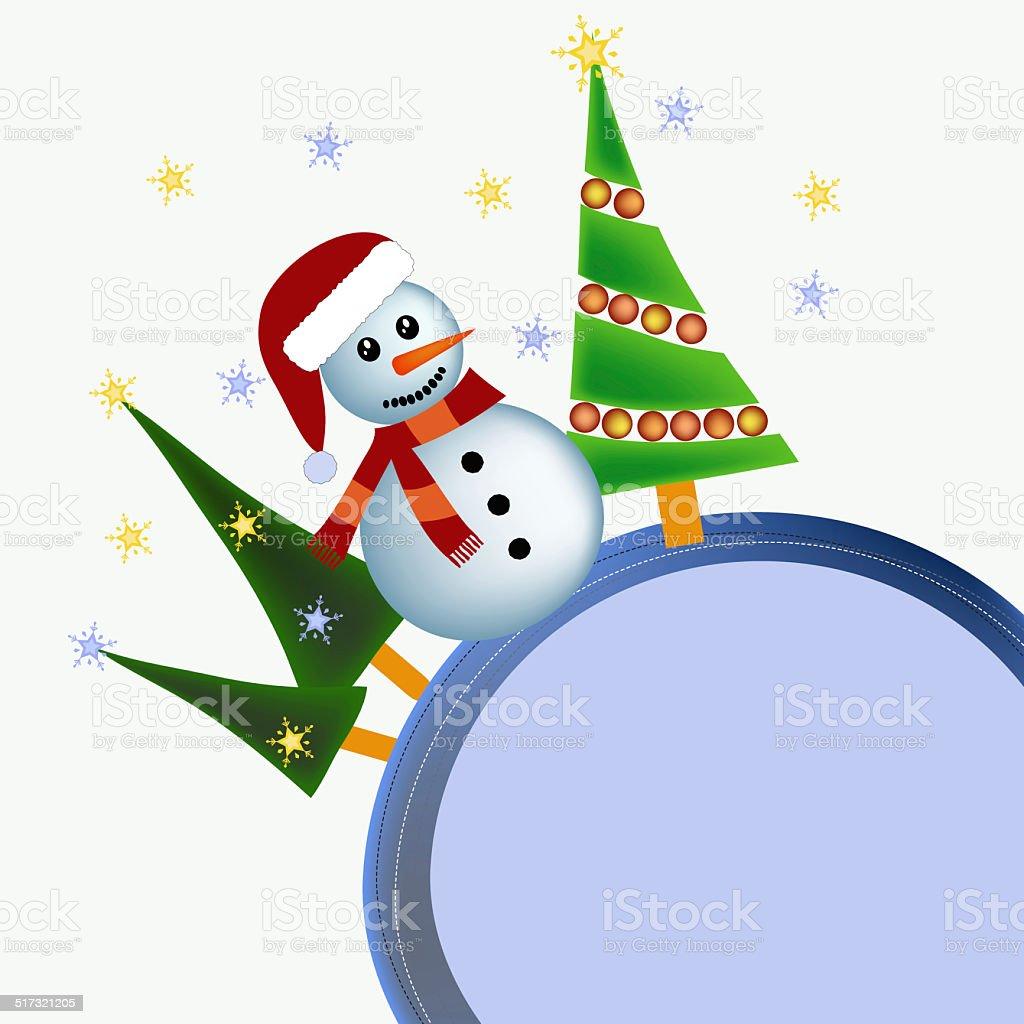 winter christmas illustration vector art illustration