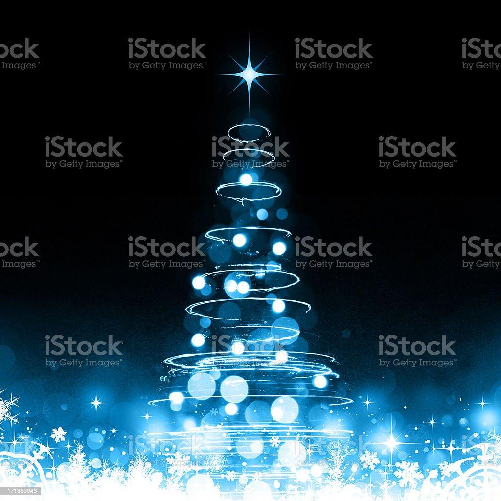 Winter Christmas tree royalty-free stock vector art