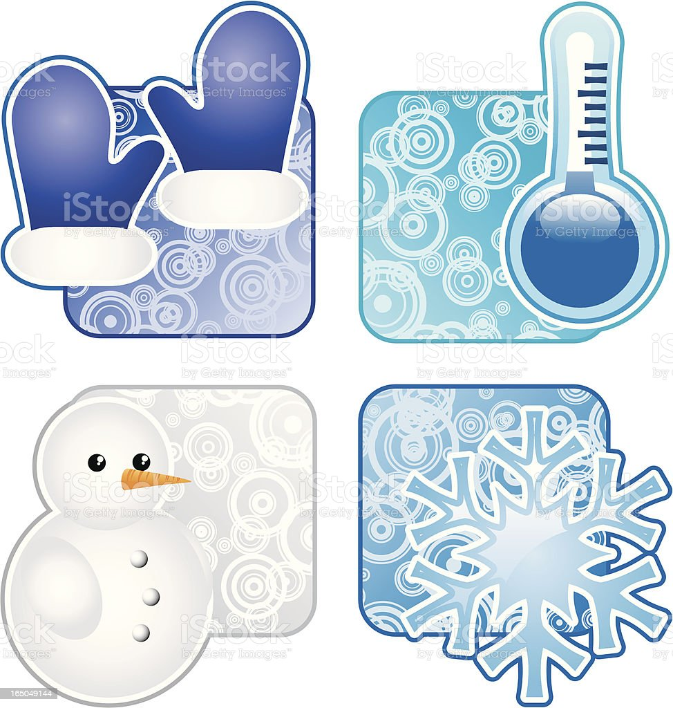Winter elements royalty-free stock vector art