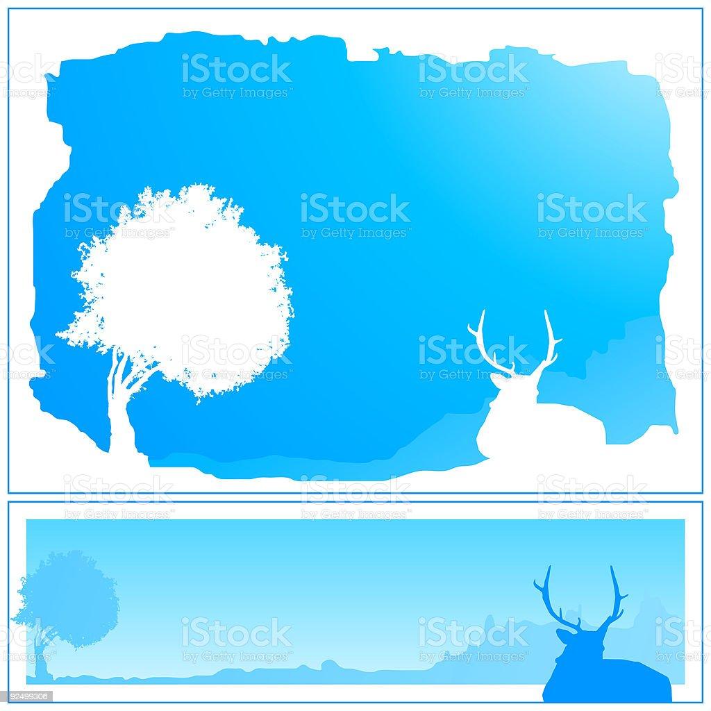 Winter Frames 03 royalty-free stock vector art